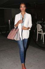 JESSICA ALBA Arrives at Katsuya Restaurant in Los Angeles