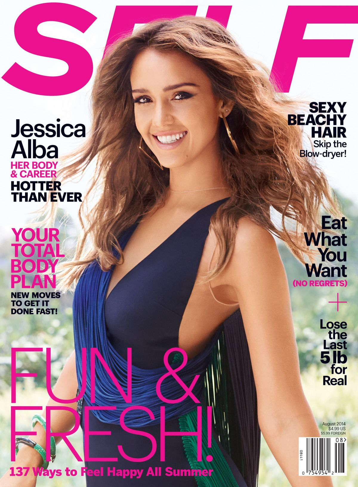 JESSICA ALBA in Self Magazine, August 2014 Issue