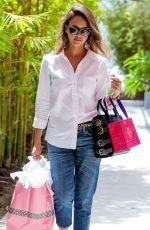 JESSICA ALBA Out Shopping in Santa Monica