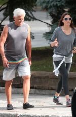JESSICA BIEL Hiking in Mont-Royal in Montreal