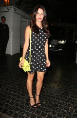 JESSICA LOWNDES Arrives at Chateau Marmont in Los Angeles