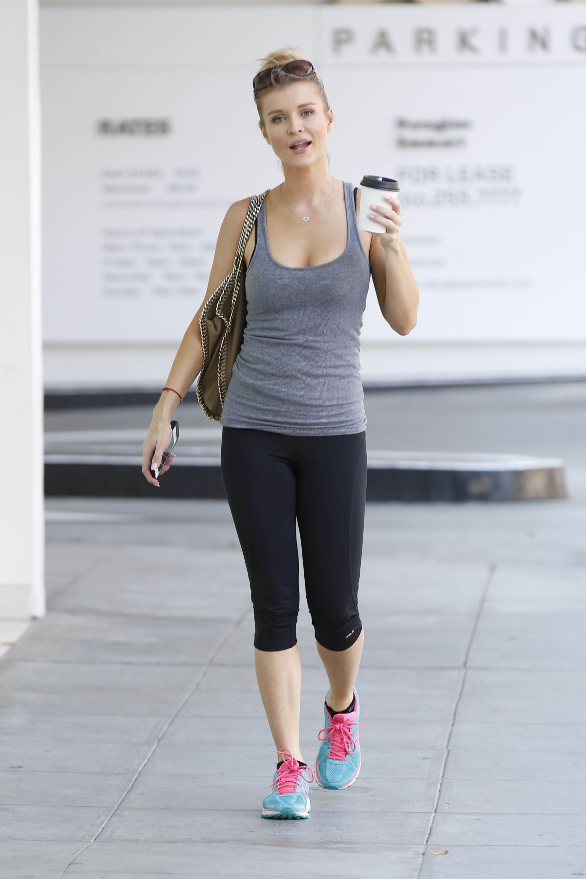 JOANNA KRUPA Leaves a Gym in Beverly Hills
