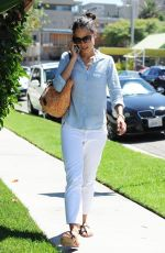 JORDANA BREWSTER Talking on Her Phone Out in West Hollywood