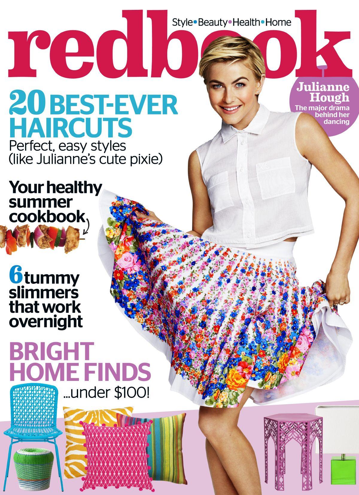 JULIANNE HOUGH in Redbook Magazine, August 2014 Issue