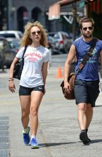 JUNO TEMPLE Heading to a Gym in Soho