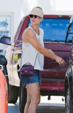 KALEY CUOCO at a Gas Station in Los Angeles