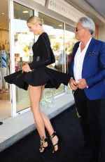 KAROLINA KURKOVA at Giuseppe Zanotti Store Opening in Ibiza