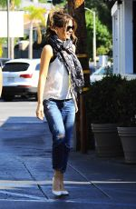 KATE BECKINSALE Out and About in Brentwood 1807
