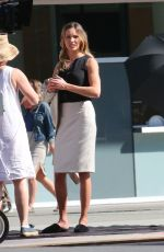 KATIE CASSIDY on the Set of Arrow in Vancouver
