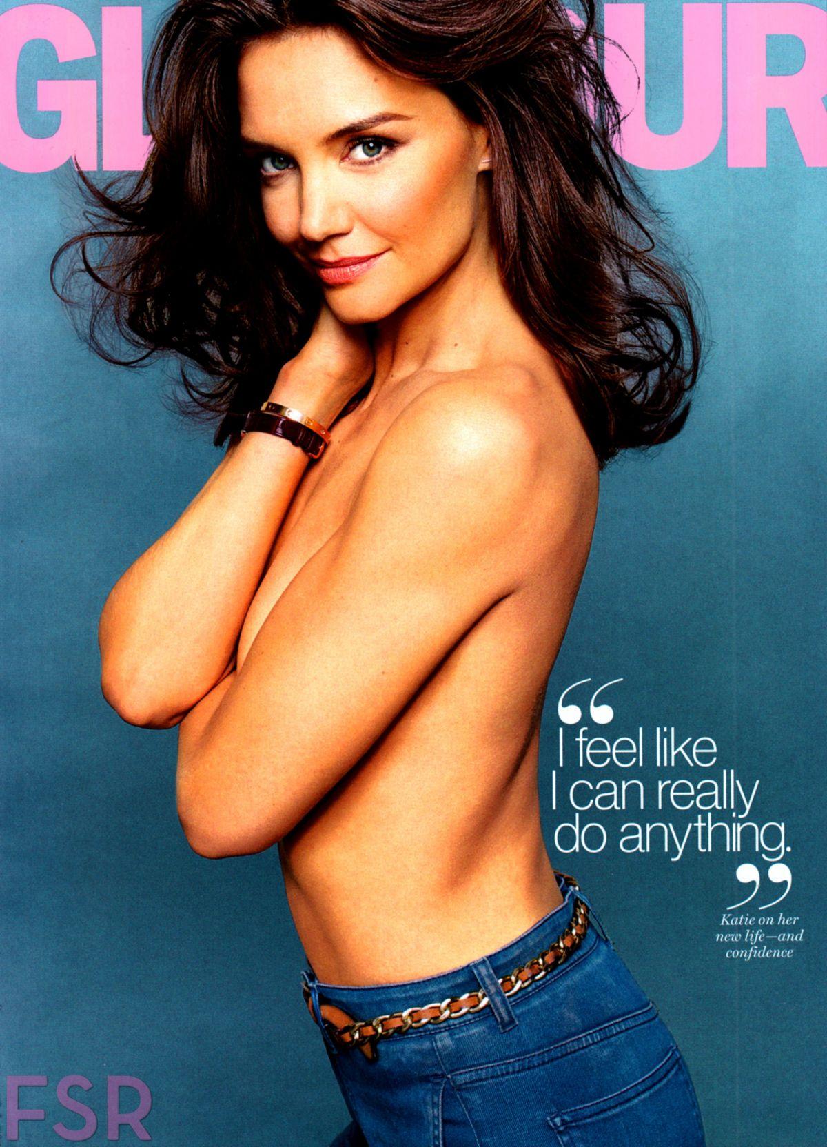 KATIE HOLMES in Glamour Magazine, August 2014 Issue