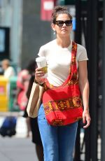 KATIE HOLMES Out and About in New York