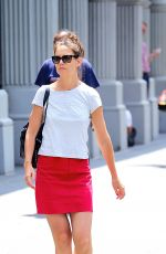 KATIE HOLMES Out Shopping in New York