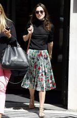KEIRA KNIGHTLEY Arrives at BBC Radio 2 Studios in London