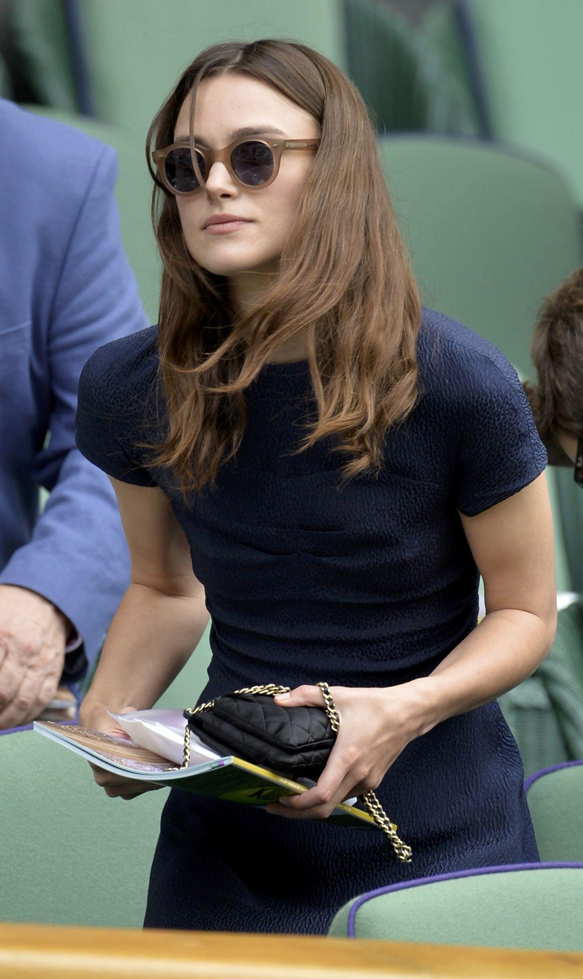 KEIRA KNIGHTLEY at Wimbledon Tennis Championships