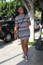 KEKE PALMER Arrives at Fig & Olive in Los Angeles