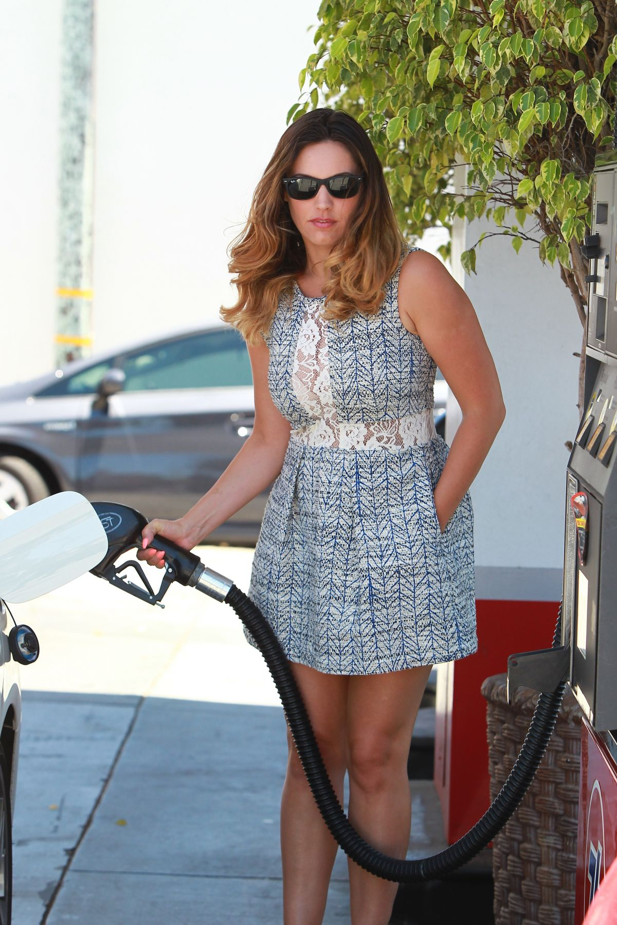 KELLY BROOK at a Gas Station in Los Angeles