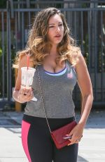KELLY BROOK Heading to a Gym in West Hollywood
