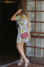 KELLY BROOK in Floral Dress Out in Santa Monica