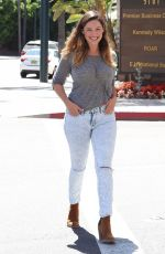 KELLY BROOK in Ripped Jeans Out in Beverly Hills