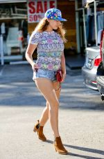 KELLY BROOK in Shorts Out Shopping in West Hollywood