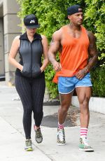 KELLY BROOK in Tghts Leaves a Gym in Santa Monica