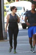 KELLY BROOK in Tights Leaves a Gym in West Hollywood