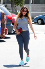 KELLY BROOK in Tights Out and About in Beverly Hills