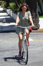 KELLY BROOK Out Riding a Bike in Beverly Hills