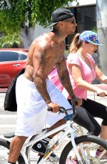 KELLY BROOK Riding a Bike in Los Angeles