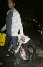 KELLY OSBOURNE Falling at a Restaurant in London