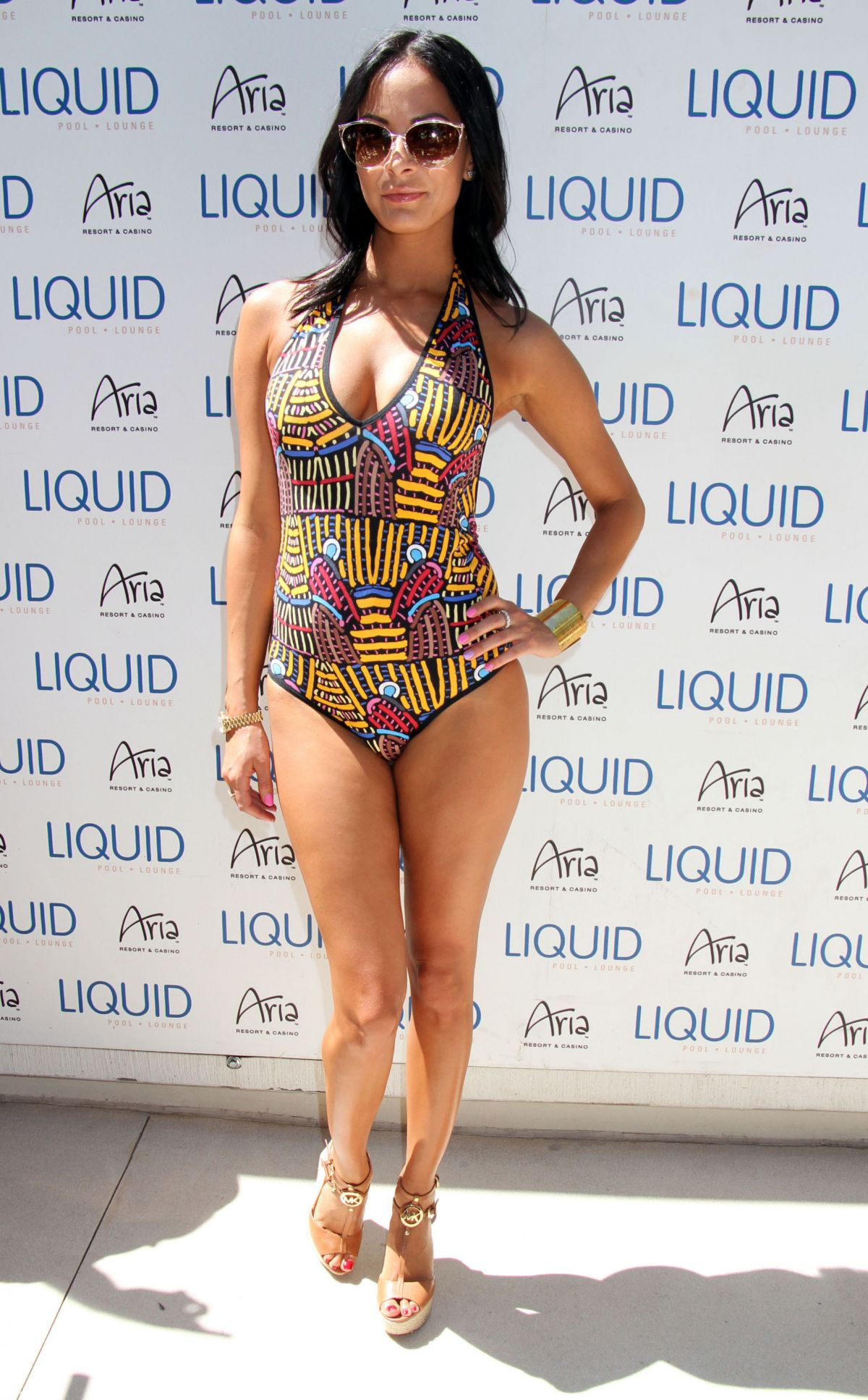 KENDA PEREZ at UFC Pool Party in Las Vegas