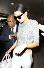 KENDALL JENNER Arrives at LAX Airport in Los Angeles