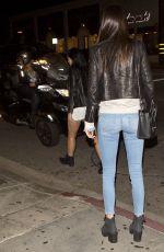 KENDALL JENNER Arrives at STK Restaurant in West Hollywood