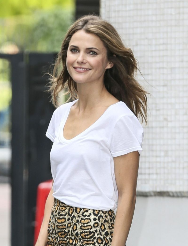 KERI RUSSEL Arrives at ITV Studios in London