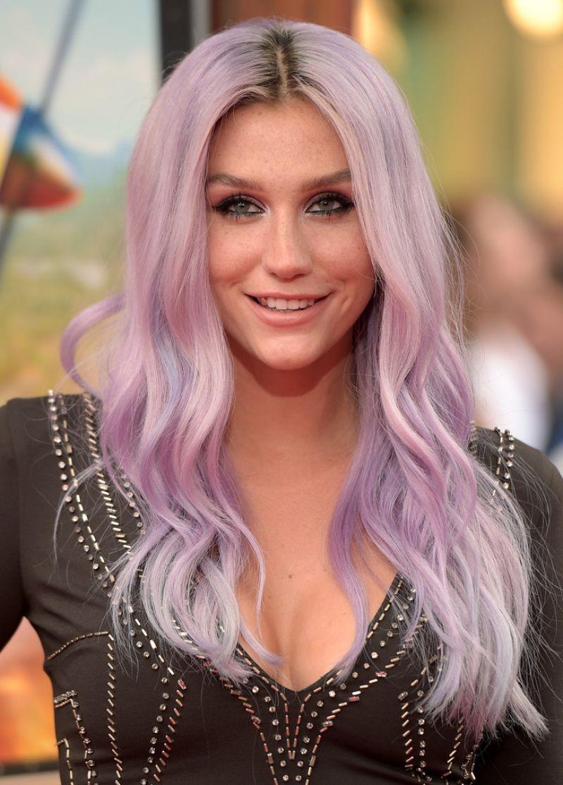 Kesha with Purple Hair