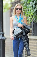 KIMBERLEY GARNER in Jeans Out and About in London
