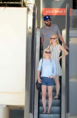 KIRSTEN DUNST in denim Shorts Out in Los Angeles
