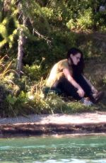 KRISTEN STEWART and JULIETTE BINOCHE on the Set of Sils Maria