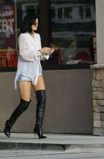 KYLIE JENNER in Shorts and Boots Out in Malibu