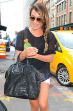 LEA MICHELE Out and About in Manhattan