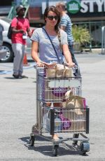 LEA MICHELE Shopping at Whole Foods Market in Studio City