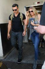 LEANN RIMES and Eddie Cibrian Arrives at Los Angeles Inernational Airport