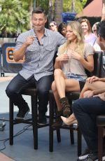 LEANN RIMES on the Set of Extra in Universal City