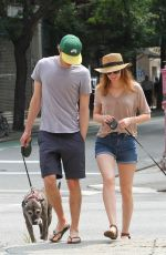 LEIGHTON MEESTER Walks Her Dog Out in New York