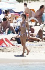 LENA HEADEY in Bikini at a Beach in Ibiza