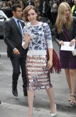 LILY COLLINS at Chanel Fashion Show in Paris