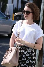 LILY COLLINS Out and About in West Hollywood