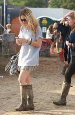 LILY JAMES at Glastonbury Festival