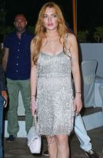 LINDSAY LOHAN at a Party at Ischia Global Film and Music Festival