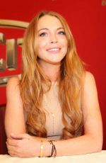 LINDSAY LOHAN at Weisses Fest in Linz